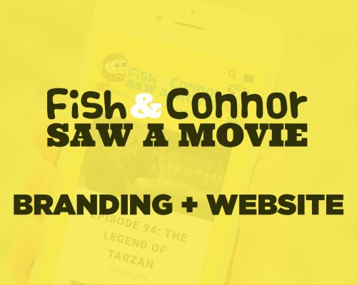 Fish & Connor Saw a Movie Podcast Branding + Website